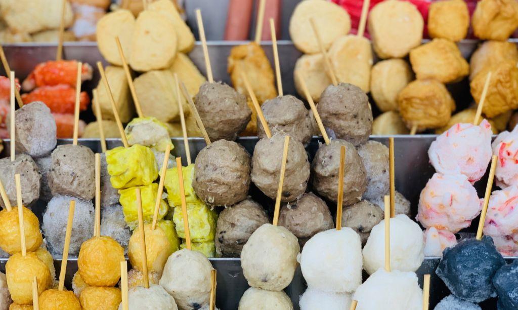 Macau street food fish balls stall