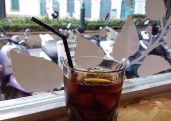 Bless Juice Bar ice lemon coffee