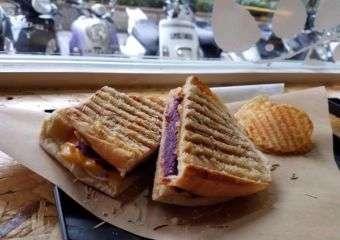 Bless Juice Bar purple yam toast