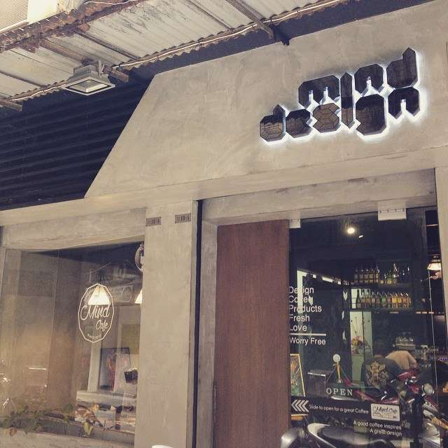 Exterior shot of Mind Design coffeeshop in Macau