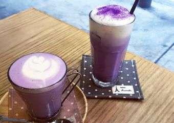 The Joy of Living Cafe Purple Sweet Potato Latte