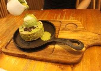 The Joy of Living Cafe sizzling pancake