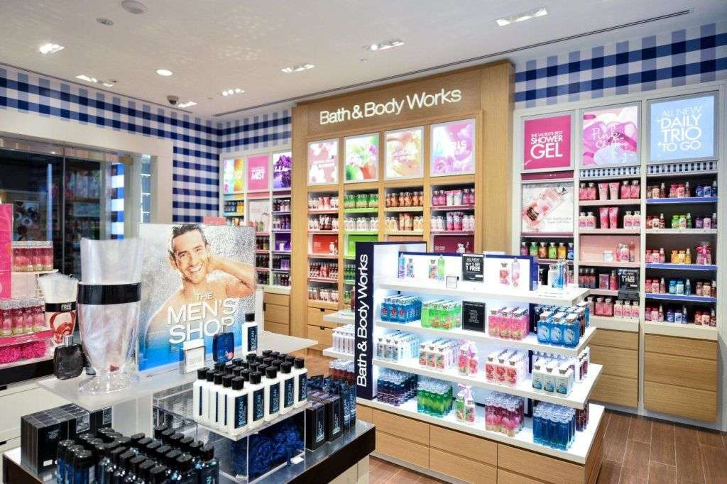 Interior of Bath and Body Works shop