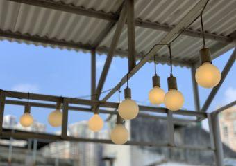 quarter square exterior lamps