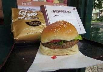 A veggie burger from Ting Ting Café