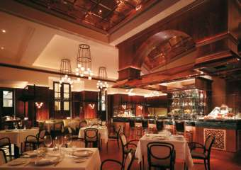 Dining room of Aux Beaux Arts at MGM in Macau