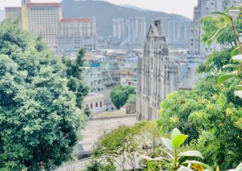 Blurred Ruins of St Paul from Mount Fortress Macau Lifestyle