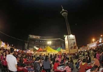 Food festival outside Macau Tower