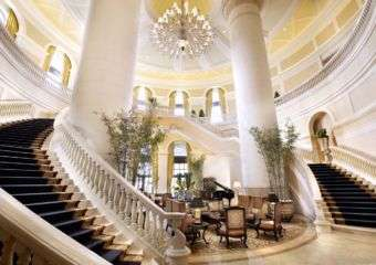Staircase at the lobby Four Seasons Hotel Macau
