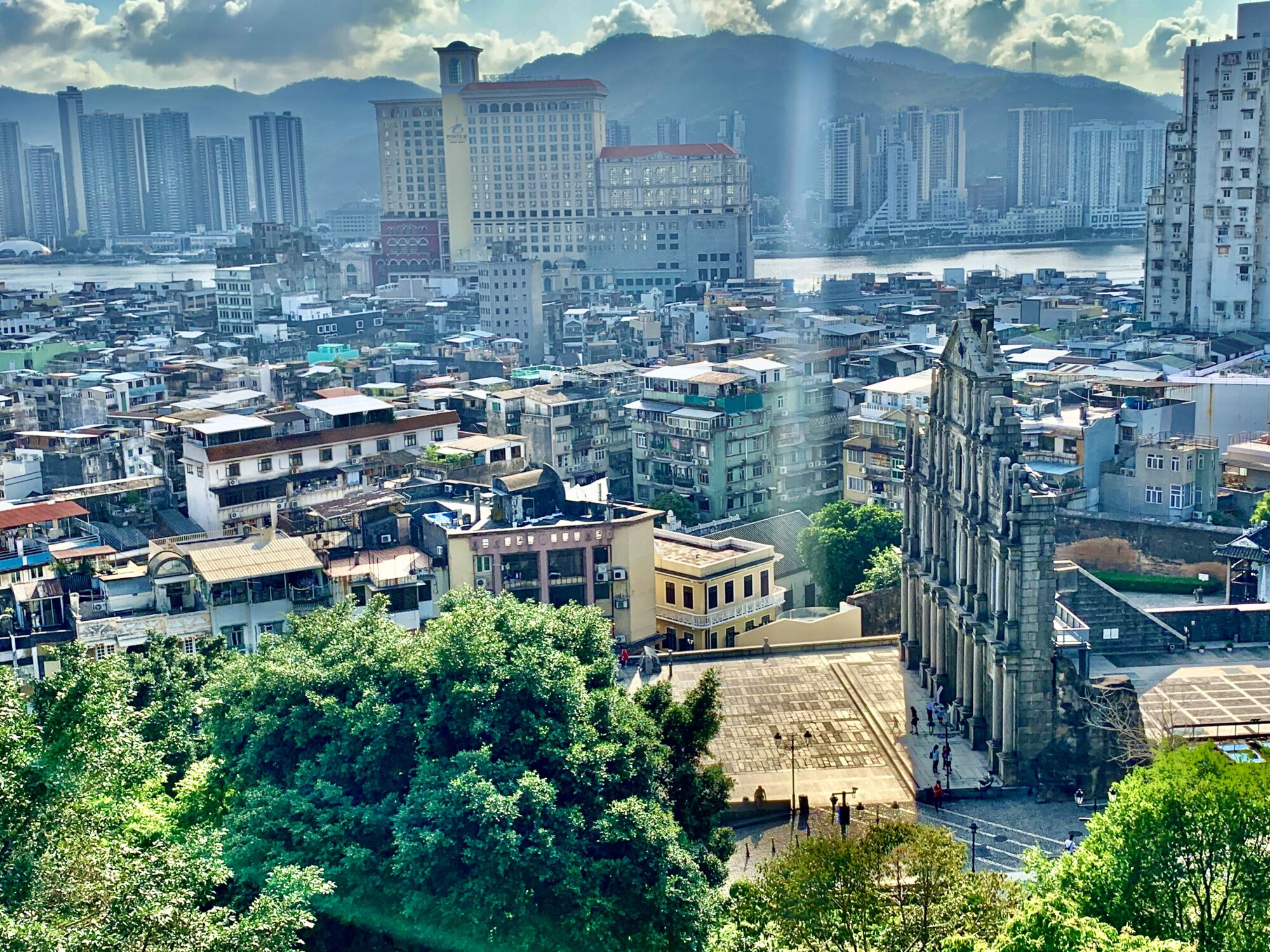 Ruins of St Paul from Mount Fortress Upstairs Macau Lifestyle