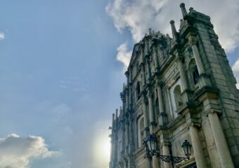 Ruins of St Paul with the Sun Behind Macau Lifestyle