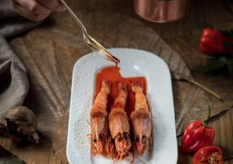 The Manor_sauteed red carabineros prawns