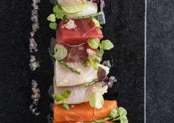 Sashimi dish at The Manor