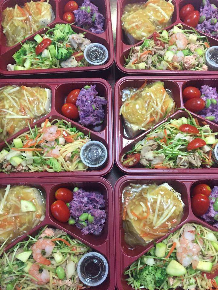 Close up shot of Obento Fit's healthy packed meal