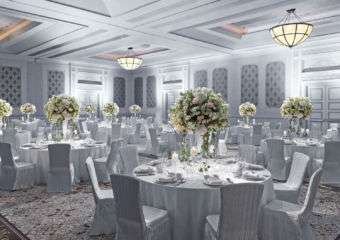 A wedding reception party at Sheraton Grand Macao Hotel