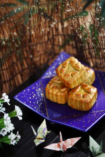 Close up shot of mooncakes