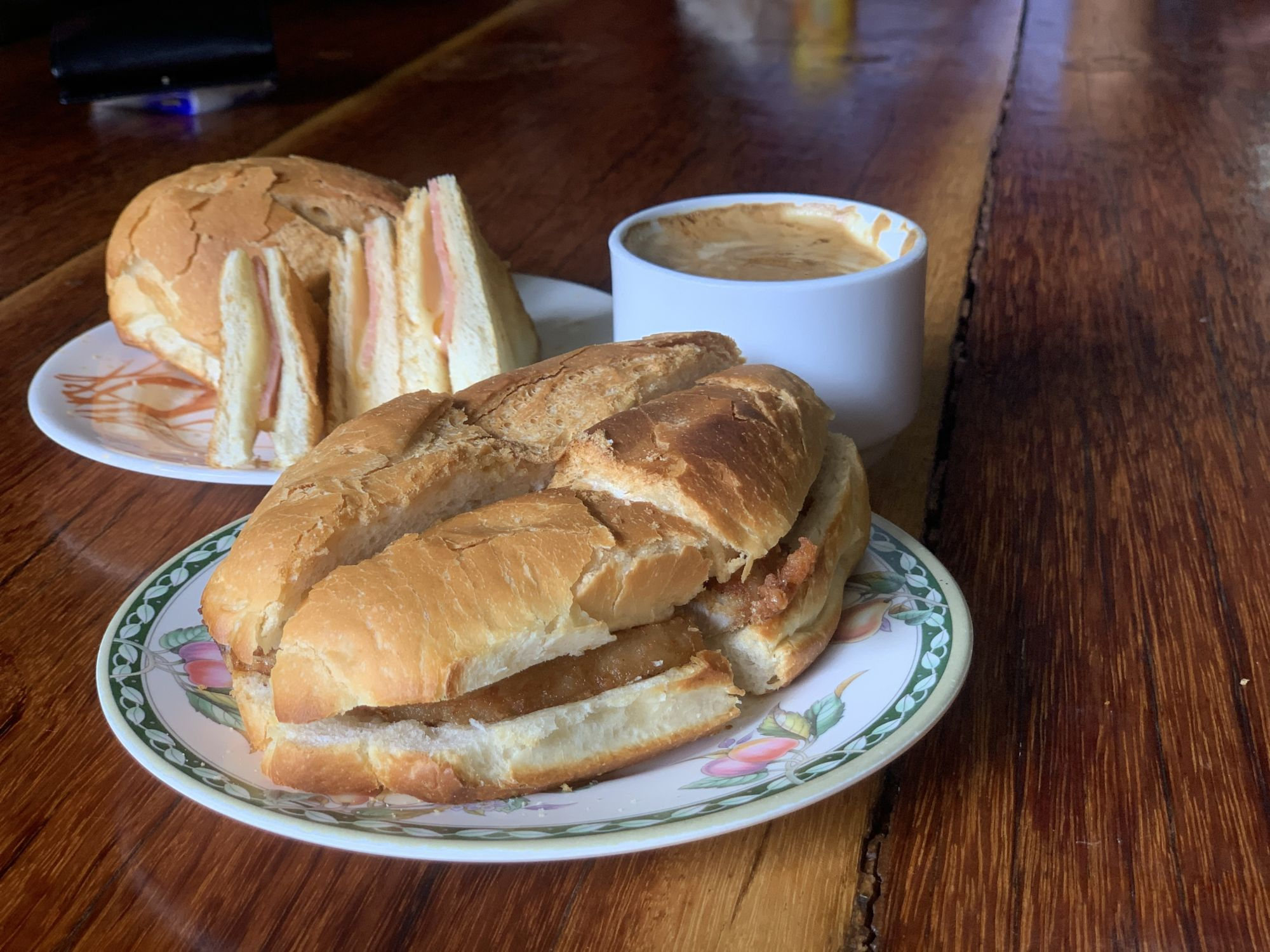 Pork Bun Sandwiches and Coffee from Hon Kee Cafe Macau Lifestyle