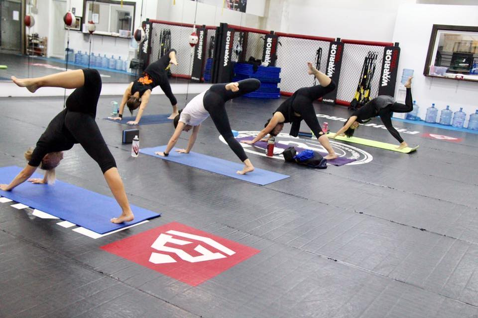 yoga class at warrior fitness macau