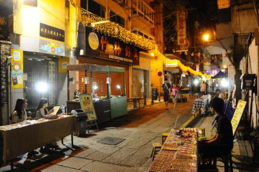 The night market in Macau