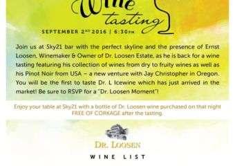 Dr Loosen Wine Tasting with Ernst Loosen
