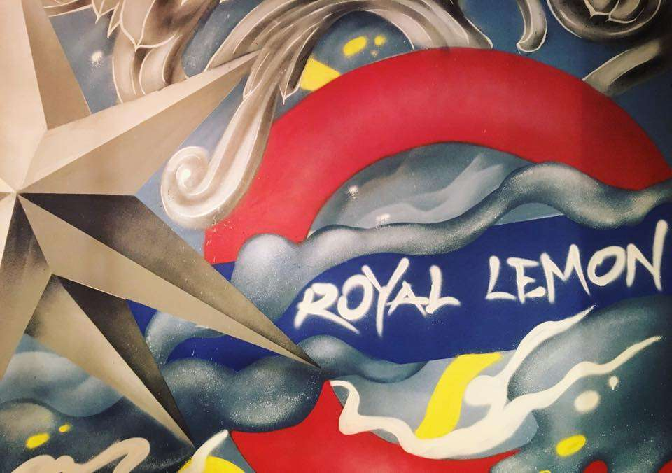 Royal Lemon graffiti wall art