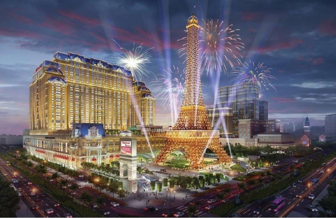 Artist's rendering of the Parisian Macao hotel and resort