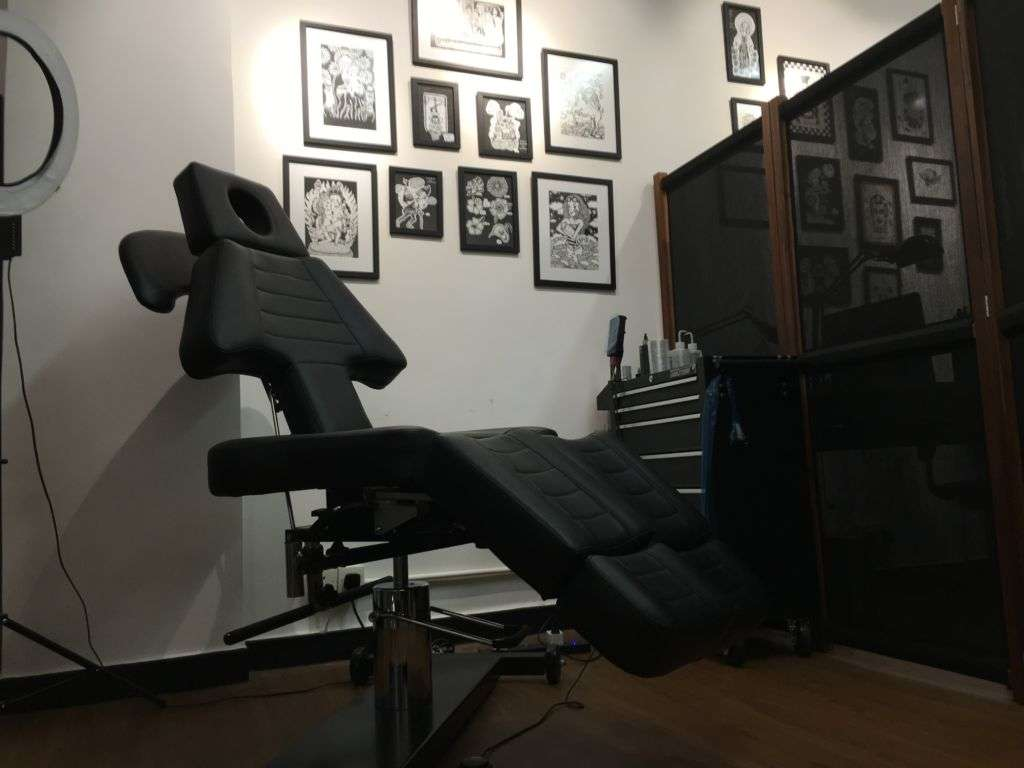 Ink studio with black chair
