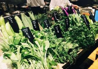 Fresh produce at mezza9 at grand Hyatt in Macau