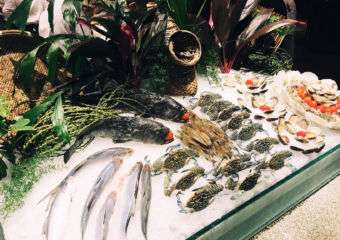 Fresh seafood at mezza9 at Grand Hyatt in Macau
