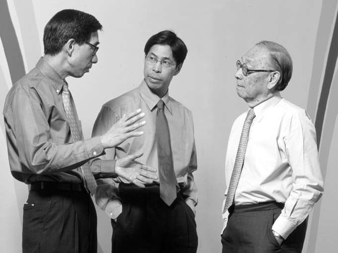 "Chien Chung ""Didi"" Pei, left, Li Chung ""Sandi"" Pei and Ieoh Ming ""I.M."" Pei. (courtesy photo)"