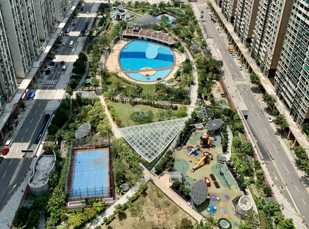 Taipa Central Park from Top Wide Macau Lifestyle