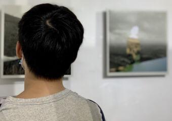 Taipa Village Art Space Indoor Man Overlooking at Painting Macau Lifestyle