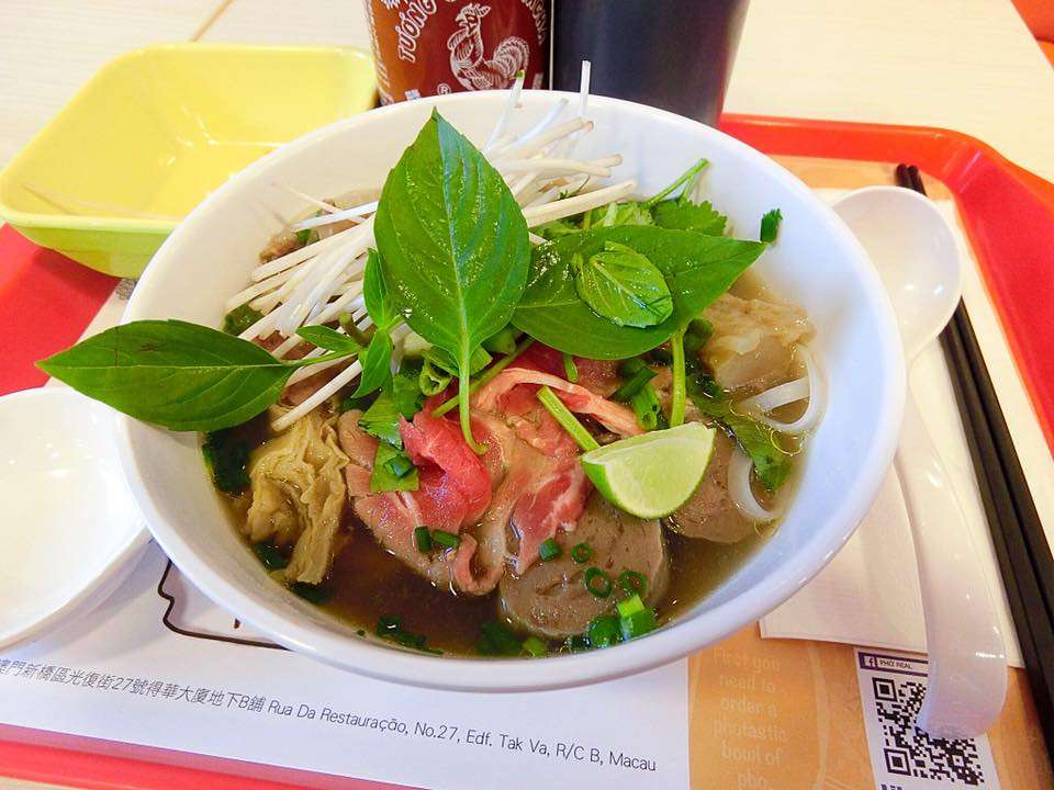 Vietnamese Pho on the table