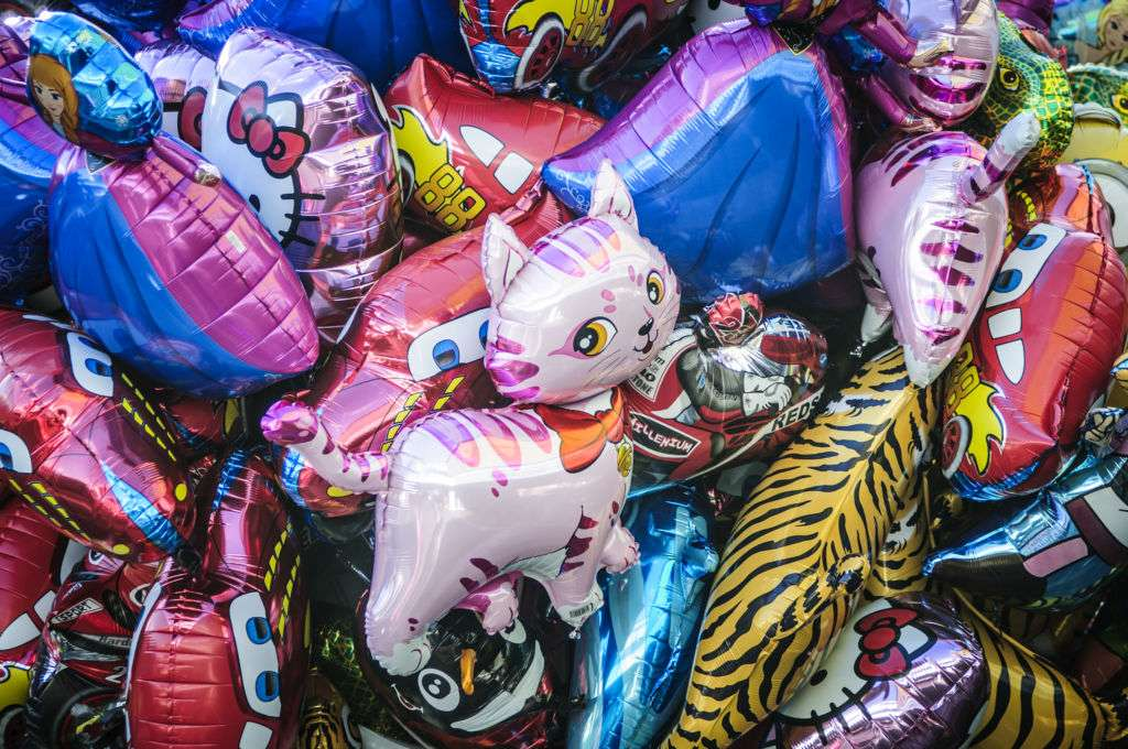 Colored foil balloons