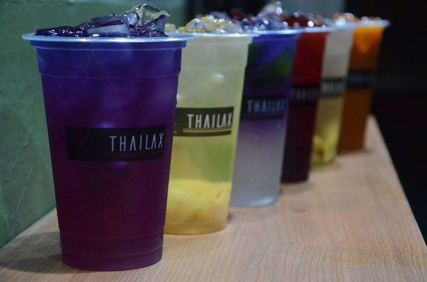 Selection of exotic Thai drinks
