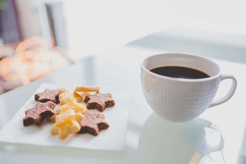 Snacks and a cup of coffee
