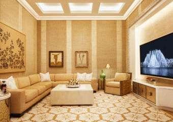 Wynn Palace Cotai garden villa lounge area