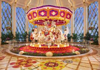Wynn Palace Cotai Carousel floral art installation