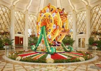 Wynn Palace Cotai floral art installation