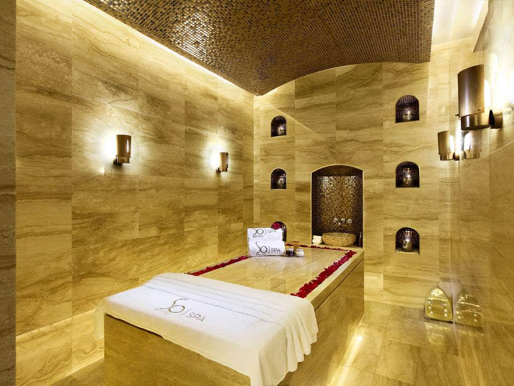 A massage bed at So Spa in Macau