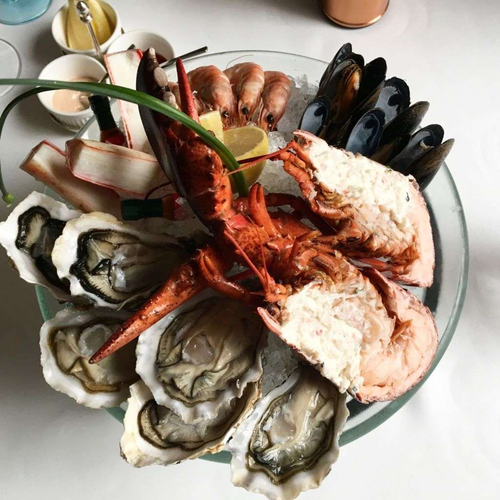 Lobster and oyster platter