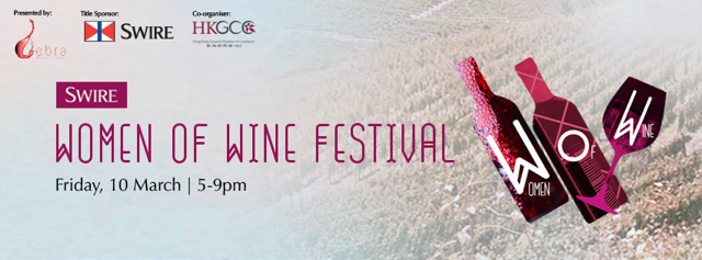Poster for Women of Wine Festival in Hong Kong