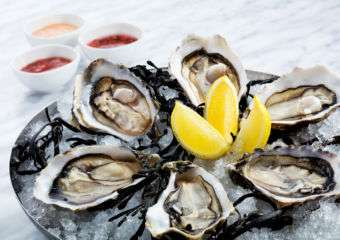 A platter of oysters at Galaxy's Apron restaurant