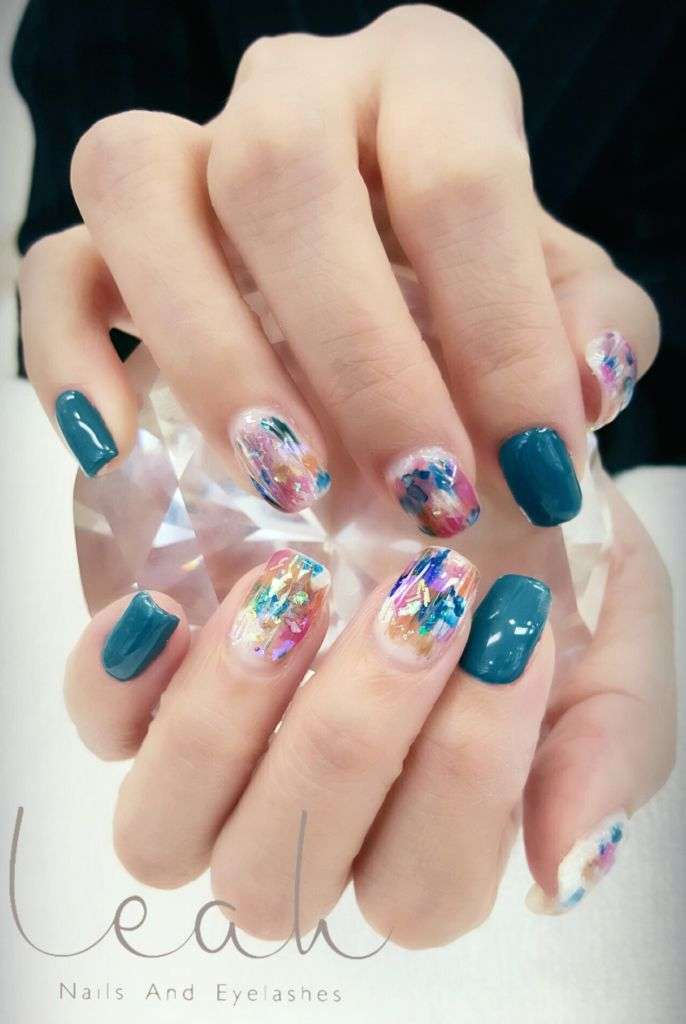 Close up shot of Japanese nail art at Leah Nails
