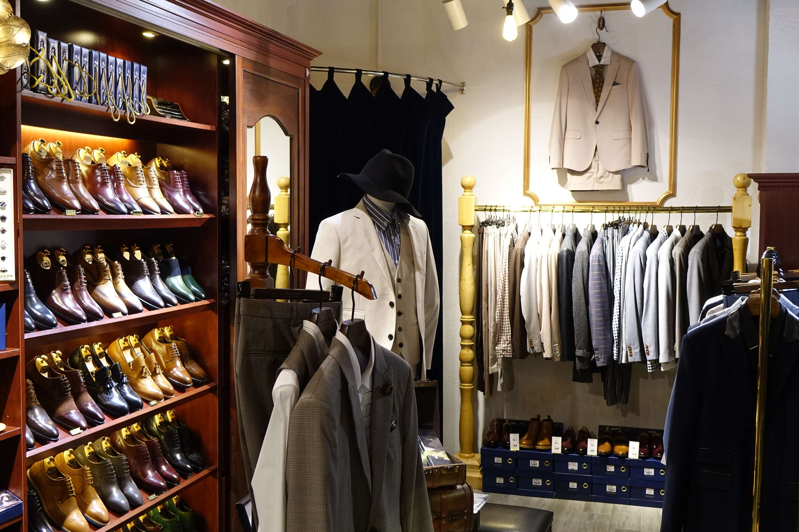 Interior shot of Mr. Collection shop