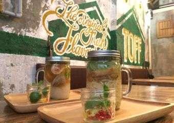 TOFF noodles in mason jar