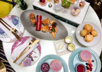 Assortment of afternoon tea delicacies