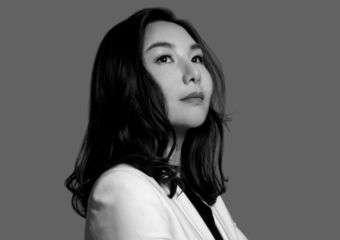 Black and white image of Mia Suki