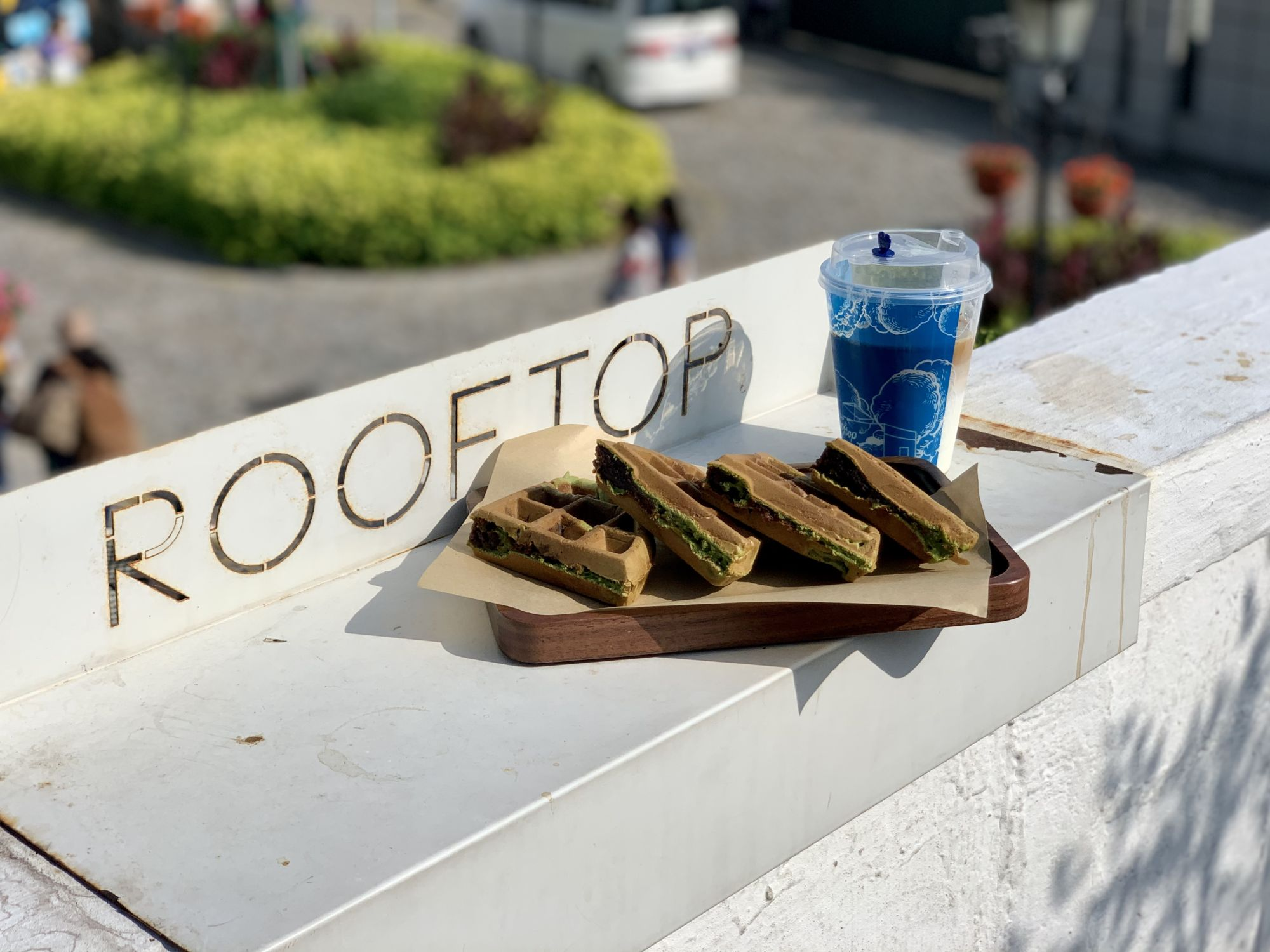 Waffles with Coffee at Rooftop Macau Exterior Macau Lifestyle