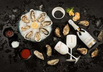 Champagne, oysters, and caviar.